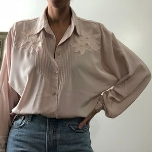 VINTAGE/ dolman silky blouse